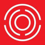 logo adlv - blanc sur fond rouge